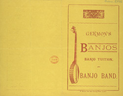 Advert for Germon's Banjo & Banjo Tuition